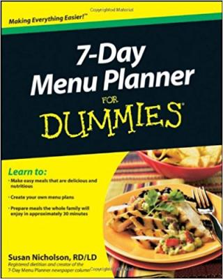 7-Day Menu Planner For Dummies®