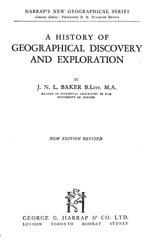 A History of Geographical Discovery and Exploration