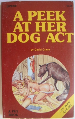 A peek at her dog act