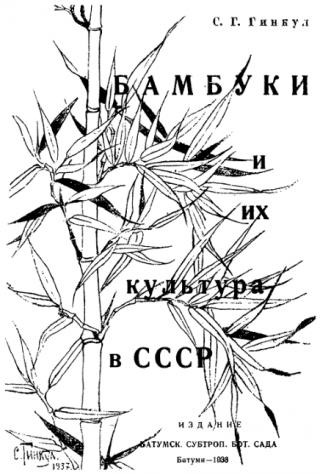 Бамбуки и их культура в СССР