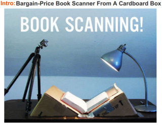 Bargain-Price Book Scanner From A Cardboard Box