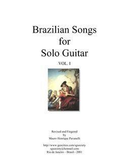 Бразильские песни для соло гитары. Том 1