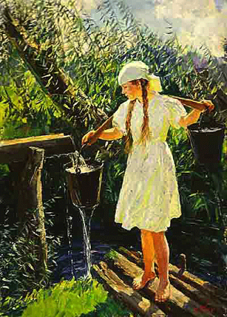 чинение по картине «Родник» Пластова
