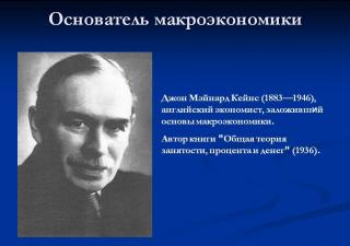 Джон Мейнард Кейнс и кейнсианство