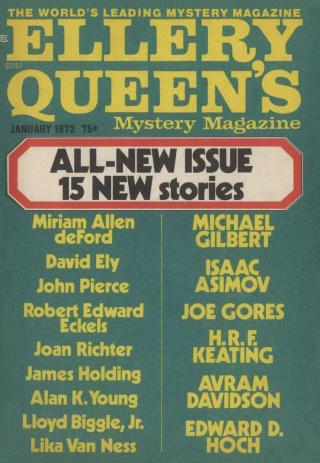Ellery Queen's Mystery Magazine, Vol. 59, No. 1. Whole No. 338, January 1972