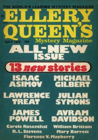 Ellery Queen's Mystery Magazine, Vol. 60, No. 1. Whole No. 344, July 1972