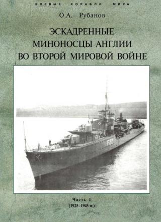 Эскадренные миноносцы Англии во второй мировой войне. Часть I (1925 -1945 гг.)