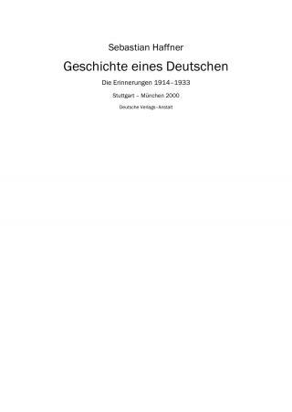 Geschichte eines Deutschen [calibre 1.11.0]