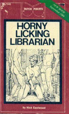 Horny licking librarian