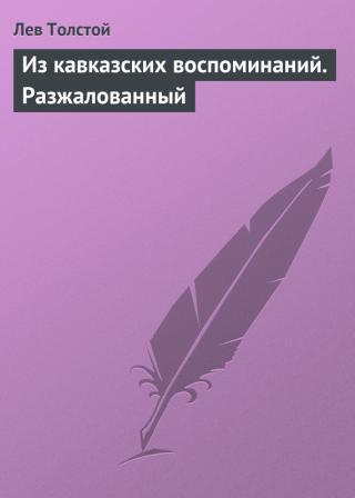 Из кавказских воспоминаний, Разжалованный