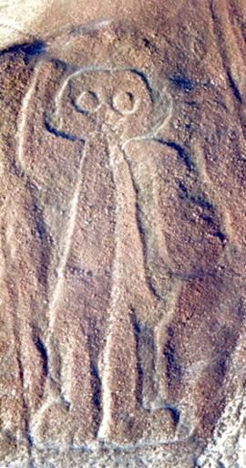 Каменная графика на пустынном плато как реалии былого величия
