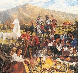 """Кероглу.Азербайджанский народный эпос.(перепечатано с издания 1940 года """" Кёр-оглы"""")"""