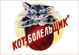 Кот-«болельщик»