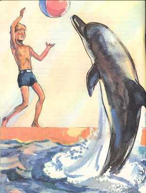 Козёл и дельфин. Басня