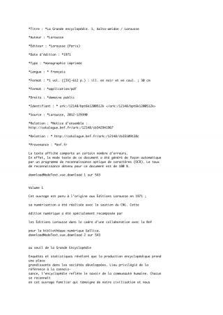 La Grande encyclopédie. 1, Aalto-amidon [calibre 3.44.0]