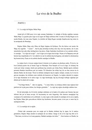 La vivo de la Budho [en Esperanto]