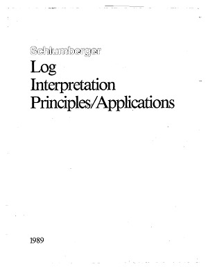 Log Interpretation Principles and Applications