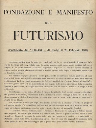 Манифест футуризма