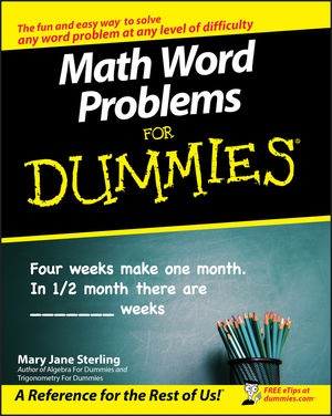 Math Word Problems for Dummies®