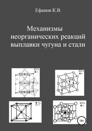 Механизмы неорганических реакций выплавки чугуна и стали