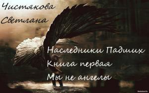 Наследники Падших Книга первая Мы не ангелы
