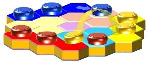 Настольная игра для малышей фишки перепрыжки (СИ)