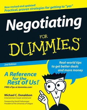 Negotiating For Dummies® [2d Edition]