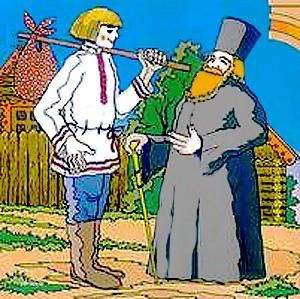 Pasaka par popu Pietapieri un viņa kalpu muļķa Antuli [Сказка о попе и о работнике его Балде - lv]