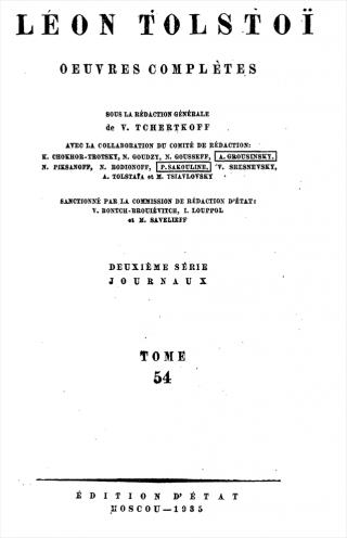 ПСС. Том 54. Дневник, записные книжки и отдельные записи, 1900-1903 гг.
