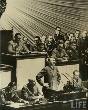 Речь перед Рейхстагом 30 января 1939 года