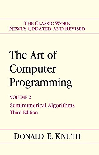 The Art of Computer Programming, Volume 2: Seminumerical Algorithms [3rd Edition]