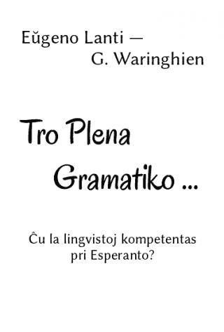 Tro Plena Gramatiko …