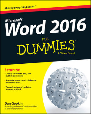 Word 2016 For Dummies®