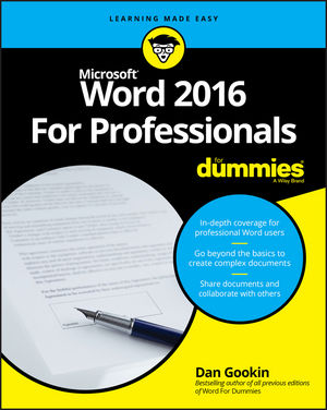 Word 2016 For Professionals For Dummies®